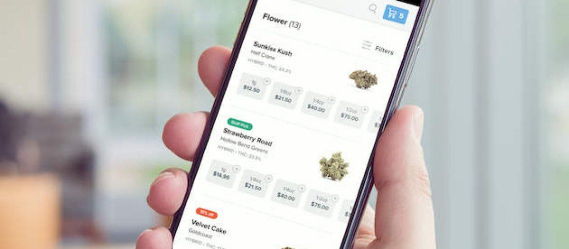 dutchie-menu-on-mobile-phone